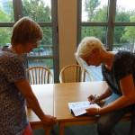 Signing Choose Life