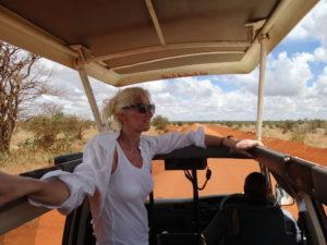 Heike Franke on safari in Kenya