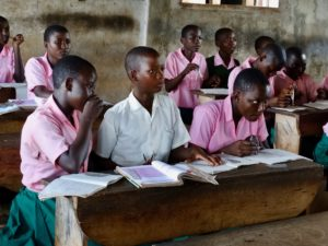 Pupil in Kenya school